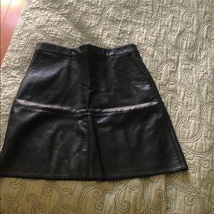 Zara basic leather skirt